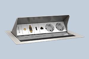 Versenkbare Control-Leiste für Interaktive Boards / Schultafeln